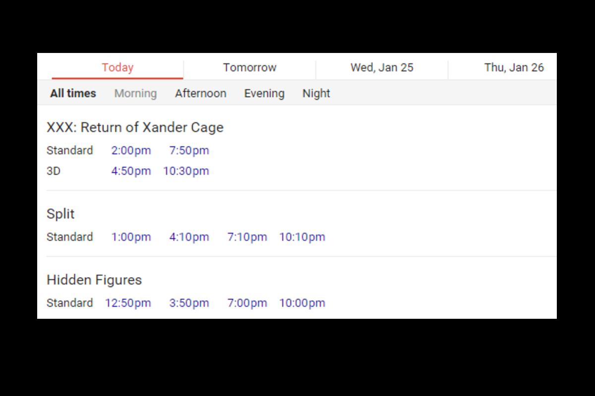 Show+times+for+%22Split%22+at+the+Cedar+Park+Cinemark.+