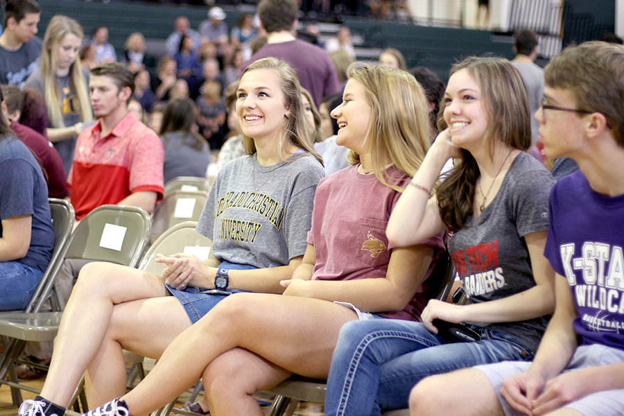 Seniors+were+honored+at+Senior+Awards+on+May+24.+In+addition+to+awards%2C+the+seniors+were+asked+to+enter+the+gym+with+their+future+colleges+and+wear+a+college+shirt.