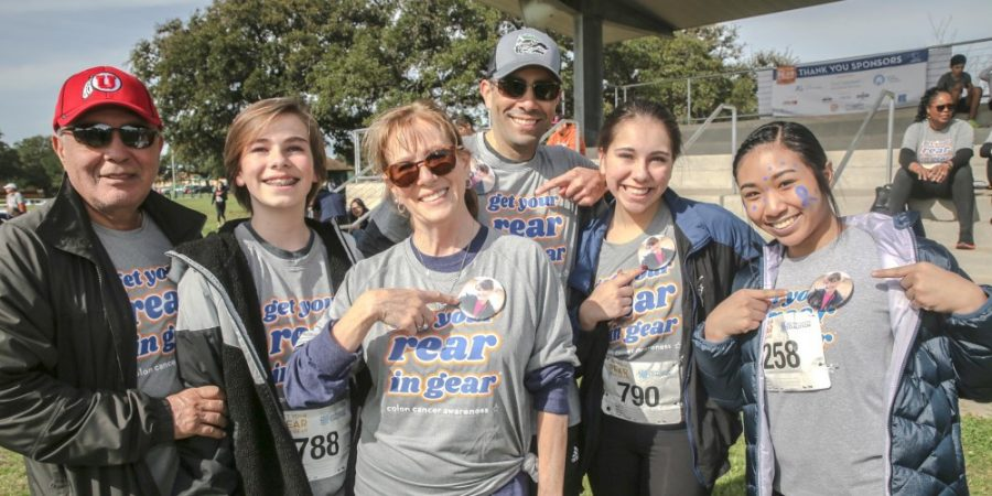 Junior Celebrities captain Rylee Tonacao (last from left to right), poses and smiles with fellow participants at the Colon Cancer Walk. Tonacao and her teammates wish to continue giving back to the community and helping to resolve community issues.
