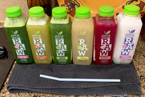 The six juices each day (from left to right) consisted of Detox Greens, Pineapple Apple Mint, Sweet Greens, Spicy Lemonade, UpBeet! and Coconut Fusion. My favorite by far was the Spicy Lemonade because it tasted just like regular lemonade but with a little spiced kick.