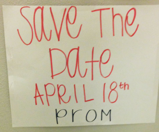 Save the date! CPHS Prom will be held on April 18.