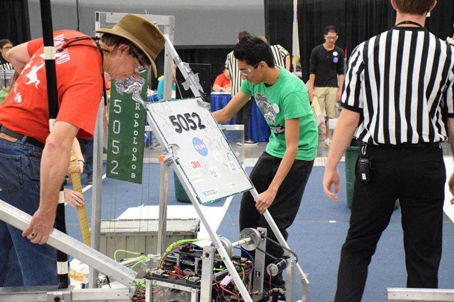 Senior David Rocha at the Aug. 1 2015 competition for Robotics.