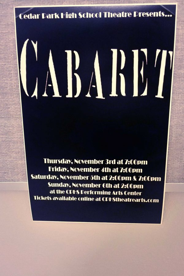 Posters featuring the dates and the times of the play are posted around school. Go to CPHStheatrearts.com to purchase your tickets today.