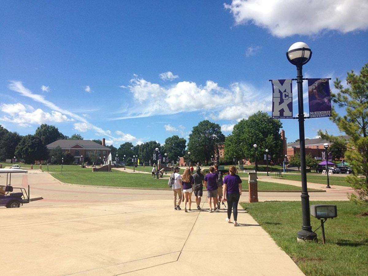 Mckendree University in Lebanon, Illinois was the first college I went on a recruiting trip to. It is a division 2 school with a relatively small campus with 60% of it's students involved in athletics.