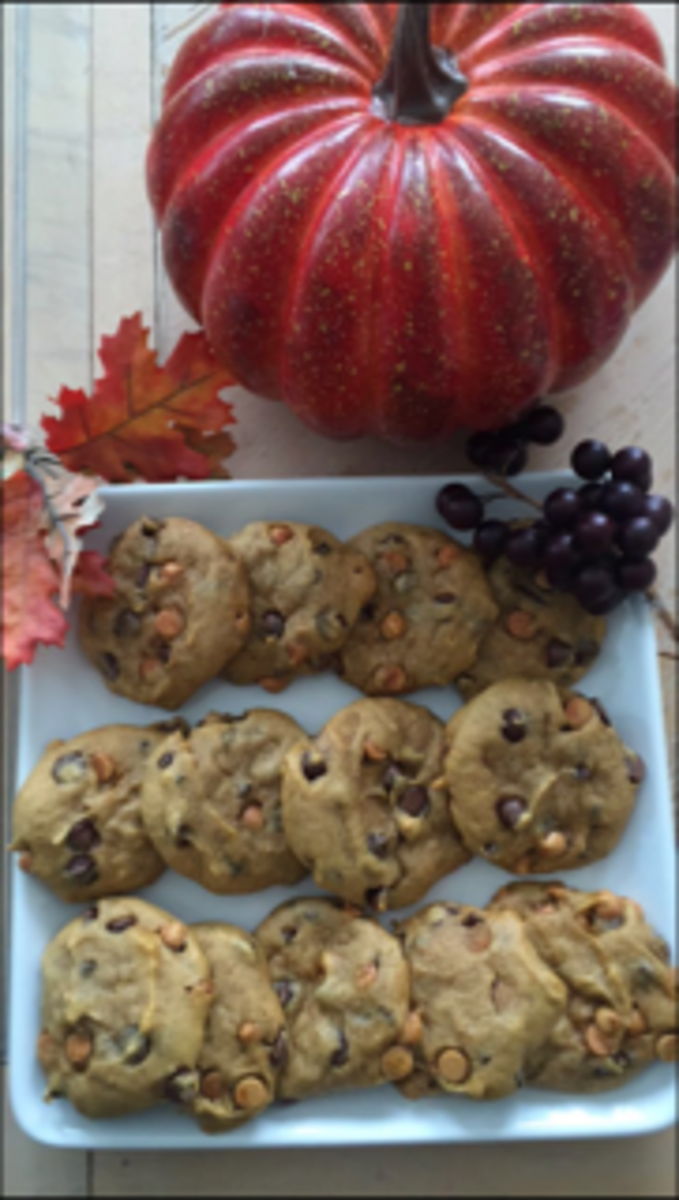Recipes for Fall: Pumpkin Chocolate Butterscotch Chip Cookies
