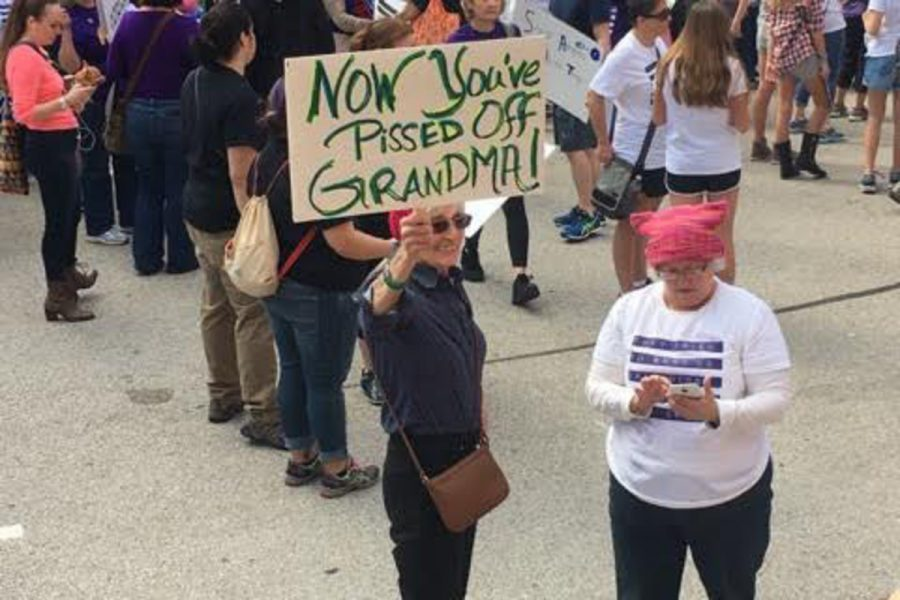 Marchers held up many different signs signaling their support for different ethnic groups, religions and female rights, but an extent of signs illustrated people's feelings toward the new administration.