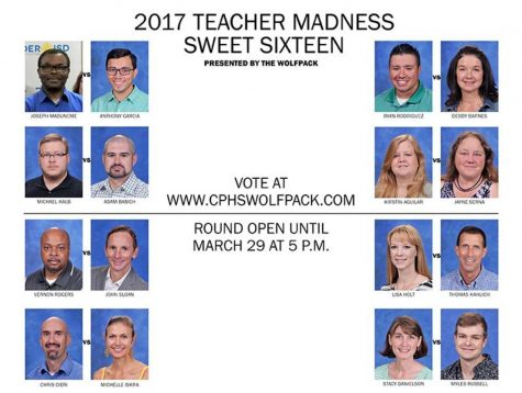 Teacher Madness Sweet Sixteen- Voting open until March 29 at 5 p.m.