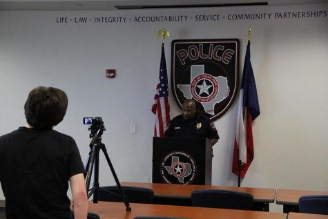 CPHS News filmed one of their scenes for Shattered Dreams at the Cedar Park Police Station.
