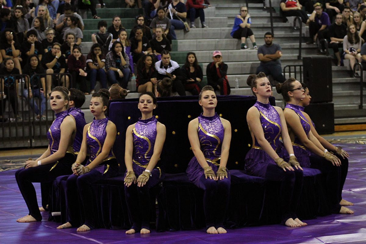 """The varsity Color Guard wrapped up their season with their state competition on Apr. 1. It was their first year competing in the open class, and they took home a sixth place trophy for the school. """"It felt amazing coming off the floor, knowing that we did our best,"""" vice president of administration senior Erin Ryan said. """"It was one of the best shows we've had. It was kind of disappointing that we didn't get a high score, but we did pretty well knowing that the others have been competing in that class forever. We were just happy with our team's performance. It's always the last show that you remember most, and I'm glad it was amazing."""""""
