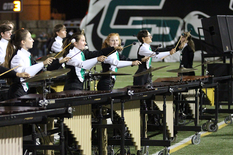 Band performs during halftime at a football game on Oct. 27.