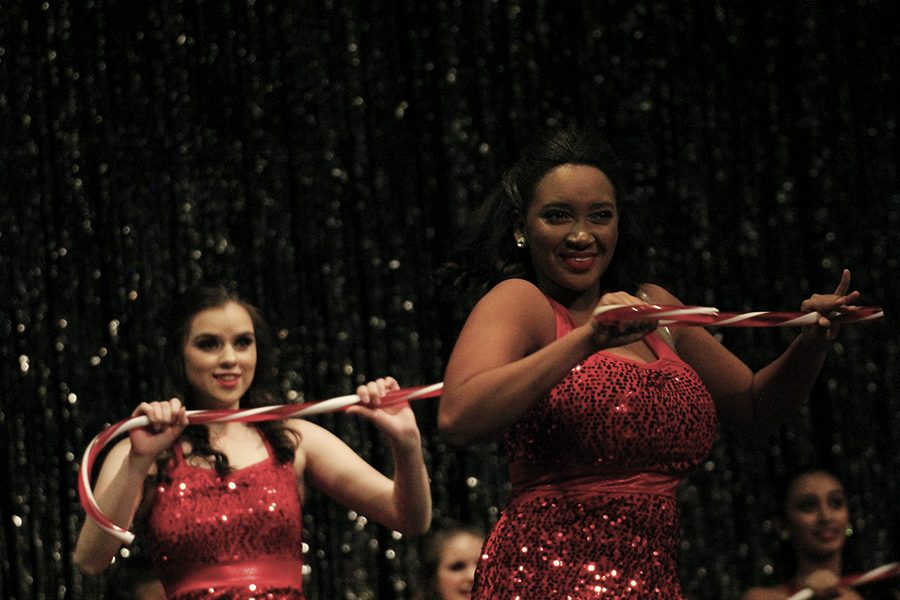 "Then freshman, Erica Shepherd performed at the 2017 Holiday show. ""I love getting up to perform, it brings me happiness to give it my all and enjoy my hard work,"" Shepherd said."