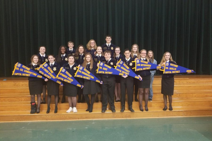 These student competed in the Cedar Park-hosted LDE on November 7. Kaitlyn McCord stands on the bottom row, second to the left, and went on to win the state champion title in Greenhand Creed Speaking.
