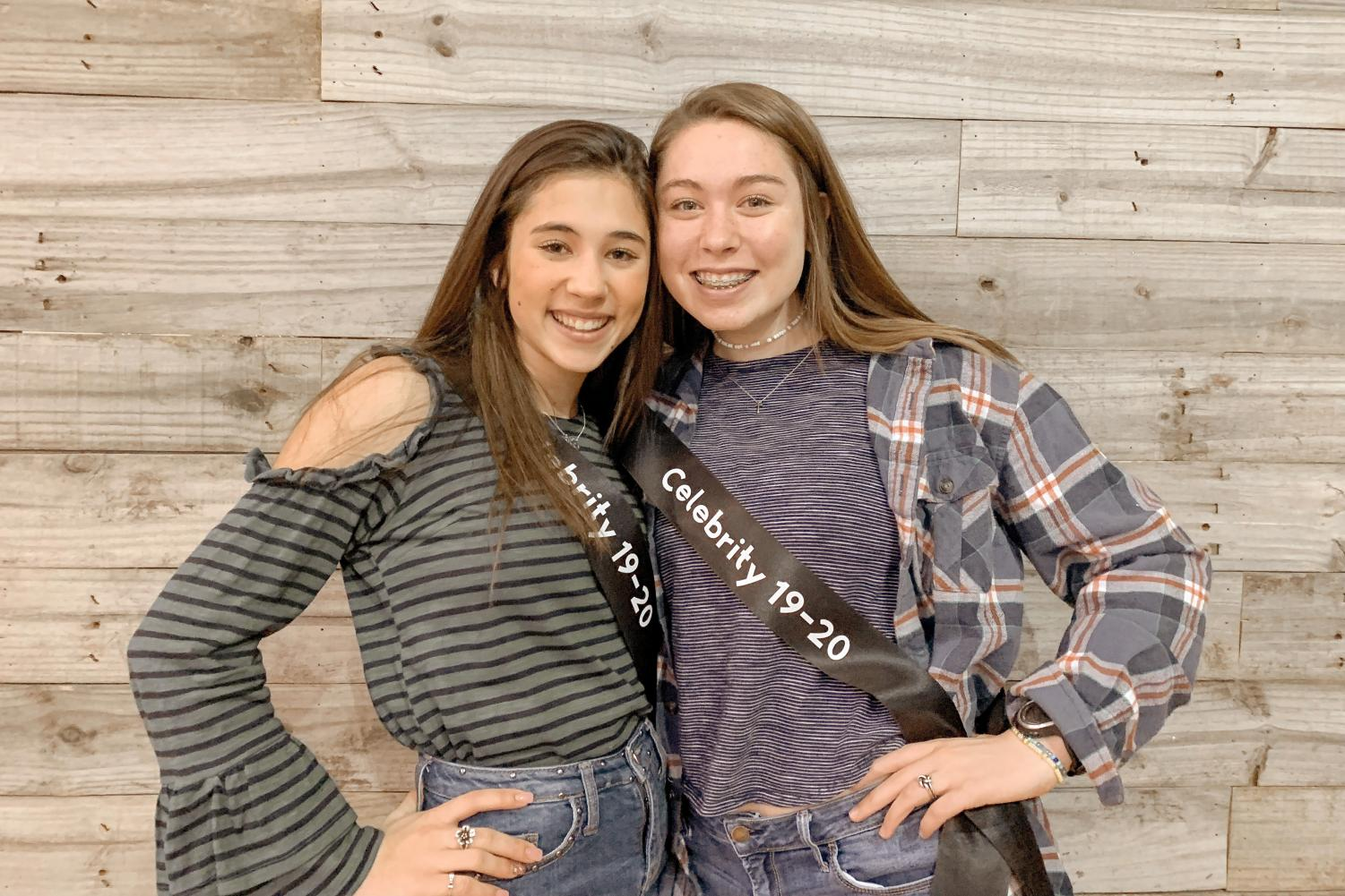 Freshman Carlton Marcom poses with fellow Rising Star Ava Caldwell. Marcom auditioned on Nov. 29 after attending multiple clinics leading up to audition day.