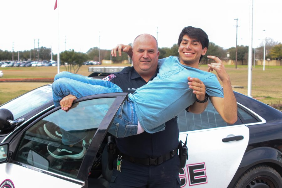 SRO+Ray+Killebrew+picks+up+Wolfpack+reporter%2C+senior+Jalen+Gomez.+Killebrew+is+from+Inks+Lake%2C+TX+and+is+a+retired+officer+that+became+the+school%27s+SRO+this+year.+%E2%80%9CI+really+enjoy+it+over+here%2C%E2%80%9D+Killebrew+said.+%E2%80%9CEveryone+has+greeted+me+with+open+arms%E2%80%93the+staff%2C+as+well+as+the+kids+that+go+to+school+here.+I+honestly+couldn%E2%80%99t+be+happier+with+the+move.%E2%80%9D
