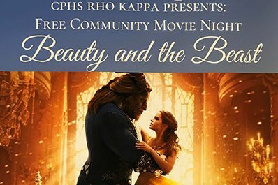 Rho Kappa's movie night will be held March 1 in the cafeteria at 7 p.m.