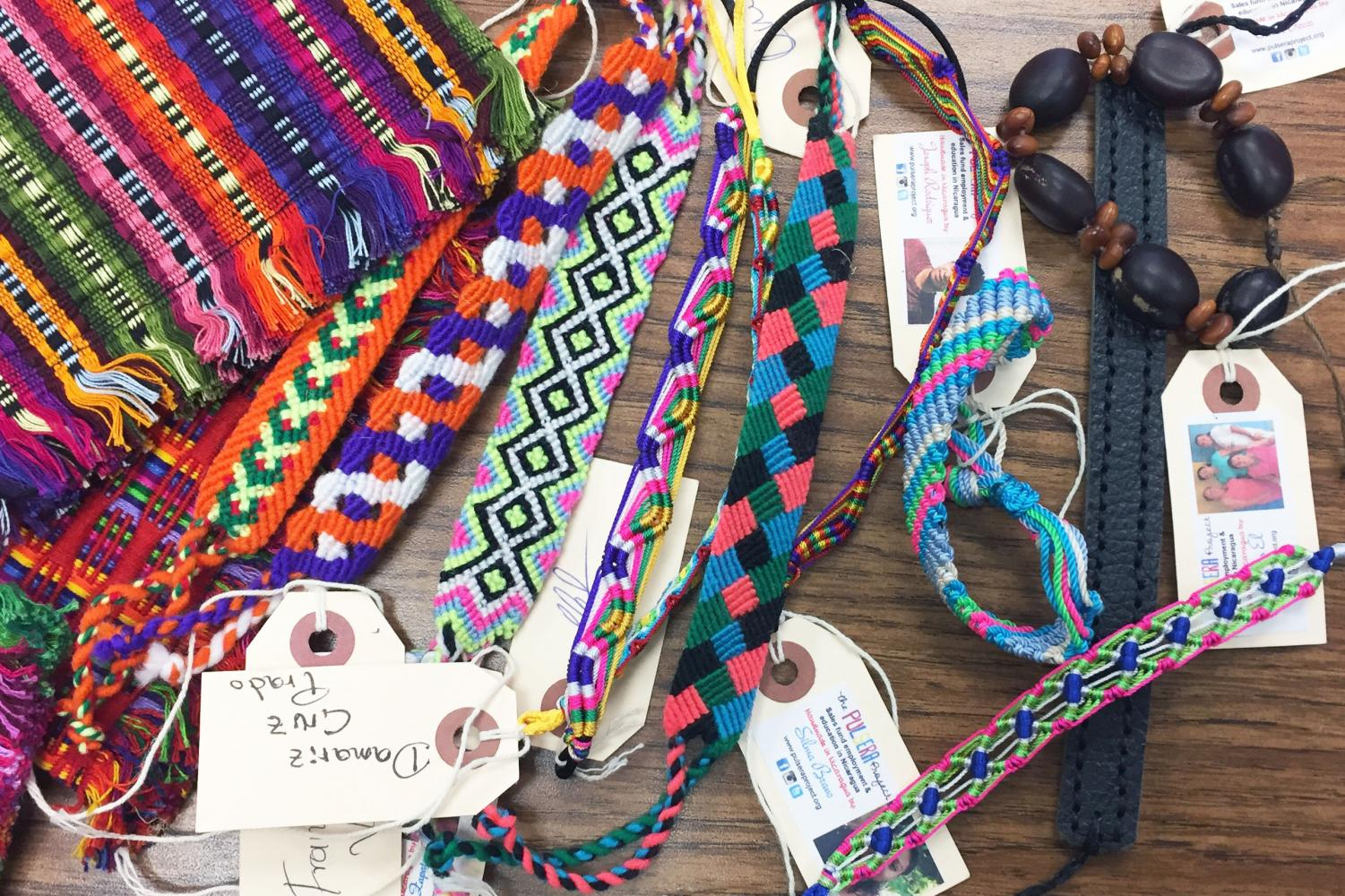 Through the Pulsera Project, the Spanish Honor Society is helping support artists in Central America by selling colorful, handmade bracelets and purses.