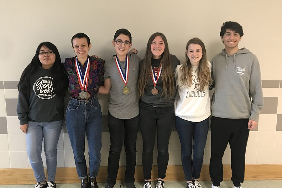 At+UIL+Districts%2C+the+UIL+Journalism+team+had+two+students%2C+freshman+Tristan+Hernandez+and+senior+Deana+Trautz%2C+advance+to+Regionals.+