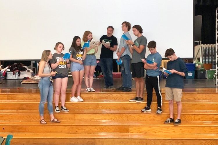 During rehearsals, the cast of