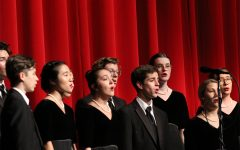 Choir students perform at the Fall concert on Oct. 8. Senior Lindsay Dove will be advancing to the State competition in January.