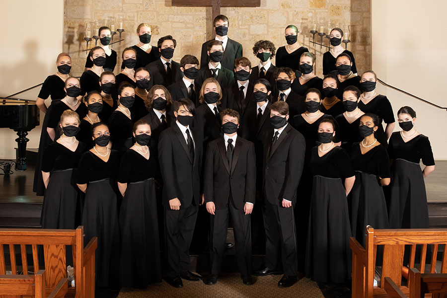 Standing+together%2C+the+Varsity+Mixed+Choir+poses+in+a+local+chapel+on+Jan.+18+for+their+ACDA+performance.+After+submitting+their+blind+recordings%2C+the+choir+was+chosen+to+perform+ACDA%2C+which+will+hold+a+virtual+convention+on+March+18-20.+%E2%80%9CI+felt+super+excited+and+honored%2C%E2%80%9D+senior+Sydney+Solberg+said.+%E2%80%9CMrs.+Holt+had+previously+mentioned+that+it+was+one+of+her+biggest+dreams+to+perform+at+ACDA%2C+so+I+knew+it+was+a+big+deal+and+it+was+going+to+be+a+once+in+a+lifetime+experience.%E2%80%9D