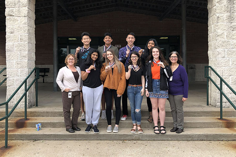 CPHS+HOSA+competitors+hold+up+their+awards+for+winning+at+the+regional+conference+last+February.+Junior+Aashna+Ravi+is+one+of+the+members+who+won+regionals%2C+therefore+she+moved+on+to+state.+%22I+think+it+was+more+of+a+surprise+that+we+won+because+I+was+very+focused+on+running+for+regional+office%2C+and+also+I+knew+I+had+made+a+couple+of+mistakes+during+the+skills+portion+of+my+event%2C%22+Ravi+said.+%22Although+I+was+definitely+excited+as+the+previous+year+I+had+also+moved+on+to+State%2C+but+was+unable+to+compete+to+my+fullest+as+I+was+sick+the+day+of+my+competition.%22
